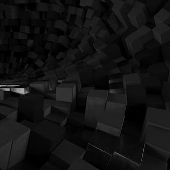 Fundo hexagonal abstrato geométrico 3d