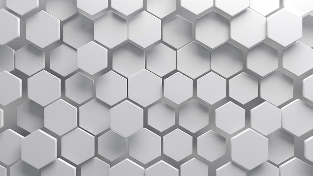 Fundo hexagonal branco abstrato