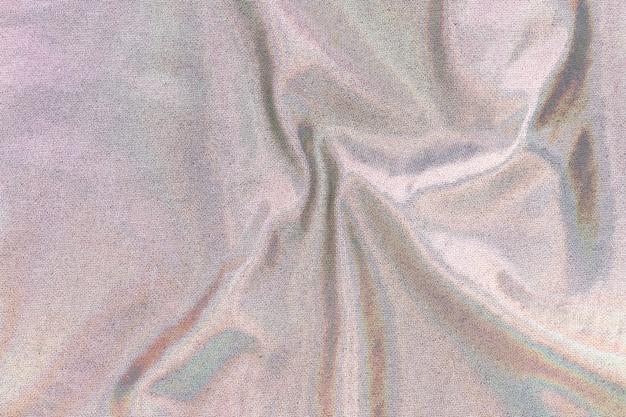 Fundo holográfico de têxteis em branco