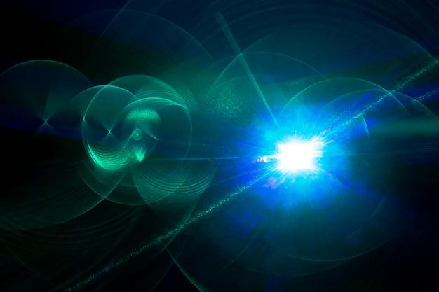 Fundo horizontal abstrato com efeito laser