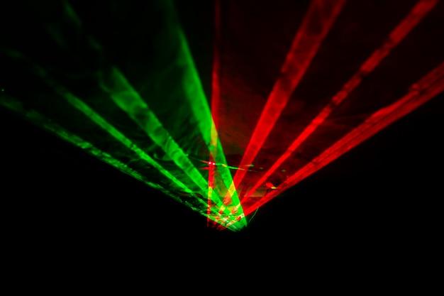 Fundo horizontal abstrato do laser óptico