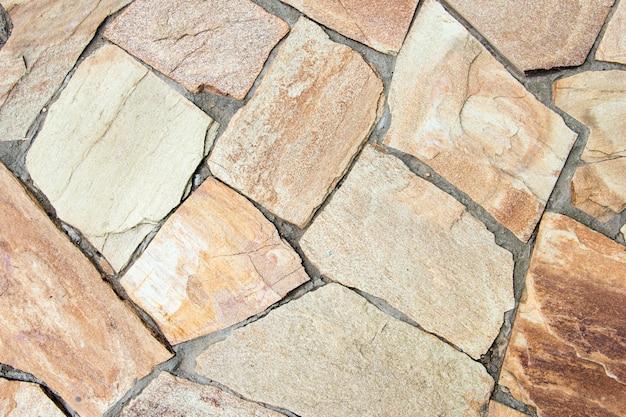 Fundo impresso da textura da passagem de concreto. pedra para caminhos.