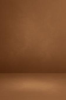 Fundo interior de concreto marrom. cena de modelo vazio
