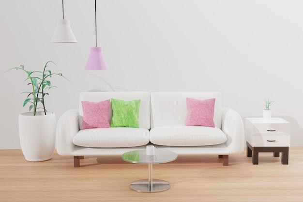 Fundo interior de sala de estar