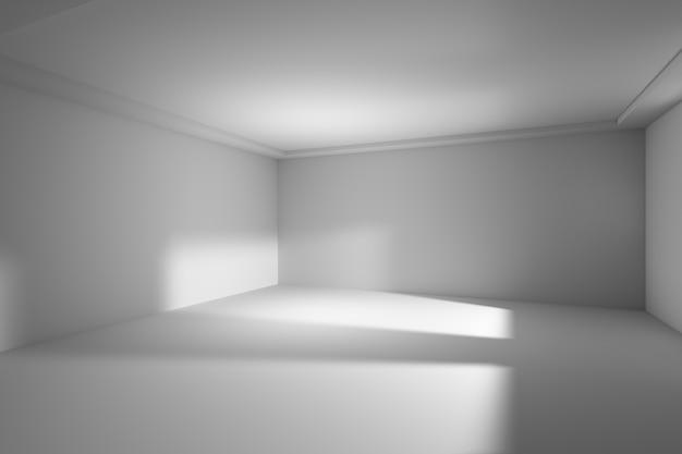 Fundo interior moderno da construção branca da arquitetura da sala de entrada 3d.