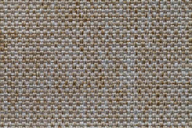 Fundo laranja têxtil com padrão de xadrez, closeup