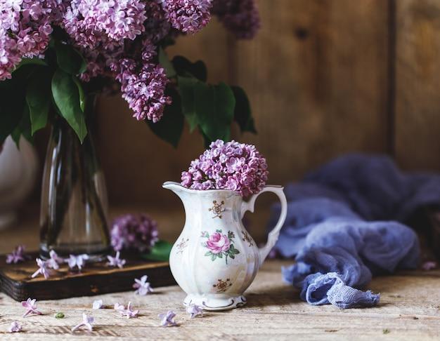 Fundo lilás. roxo lilás flores primavera flor fundo