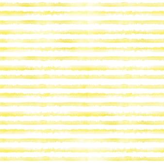Fundo listrado amarelo pintado à mão em aquarela. padrão sem emenda com listras