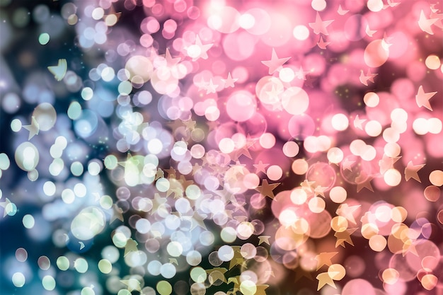 Fundo mágico com cor de fundo festivo com bokeh natural e luzes douradas brilhantes. fundo vintage mágico
