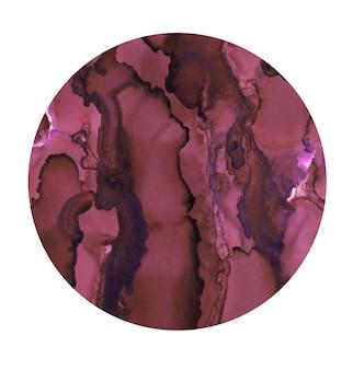 Fundo mágico com tinta. textura para impressão em aquarela. pano de fundo do círculo.