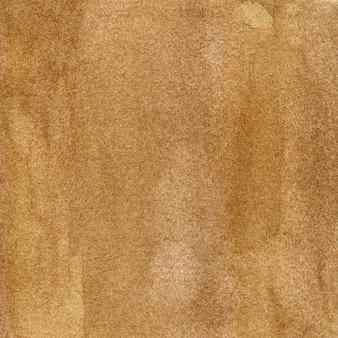Fundo marrom claro aquarela com manchas e estrias. ilustração desenhada à mão