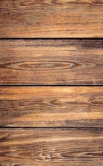 Fundo marrom de pranchas de madeira Foto Premium