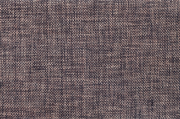 Fundo marrom escuro de tecido de ensacamento tecido denso