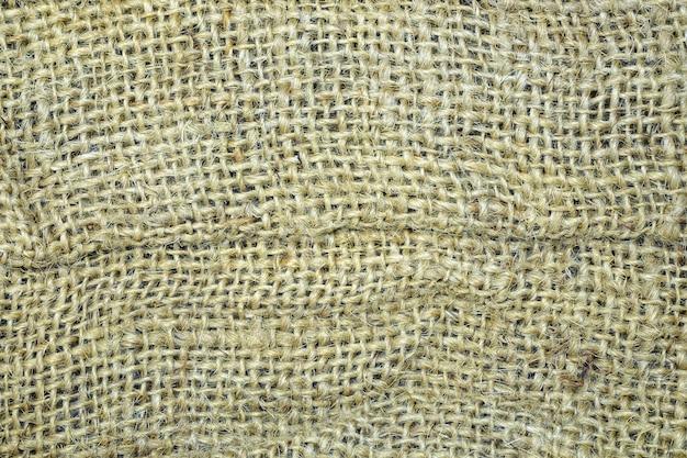 Fundo material da textura do pano de saco.