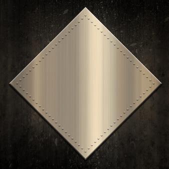 Fundo metálico dourado no grunge