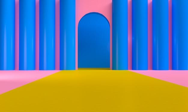 Fundo minimalista figuras geométricas abstratas
