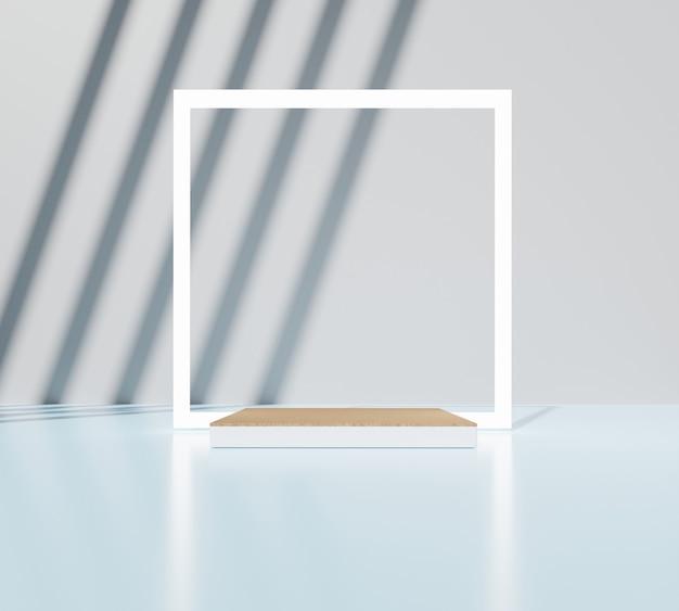 Fundo mínimo com palco vazio. conceito de interior moderno. renderização 3d.