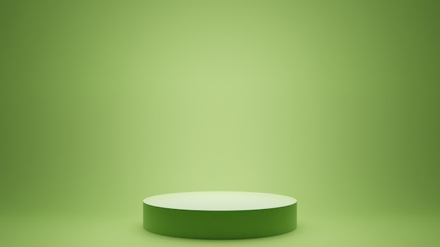 Fundo mínimo de renderização 3d, cena com pódio para exposição do produto.