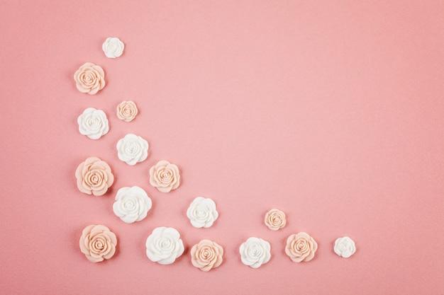 Fundo mínimo decorativo pastel