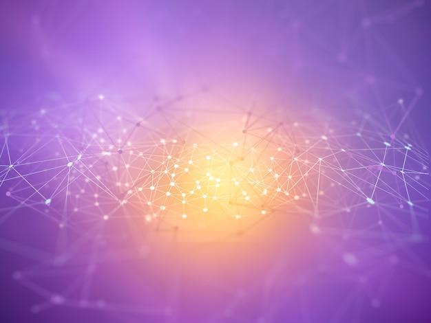 Fundo moderno de linhas e pontos de conexão