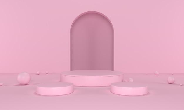 Fundo moderno e minimalista do pódio do produto
