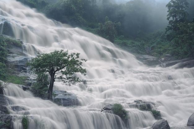 Fundo natural da queda d'água