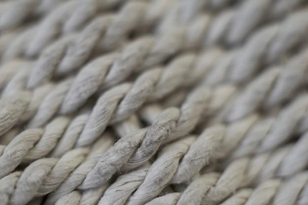 Fundo natural, superfície extremamente close-up de fios tecidos