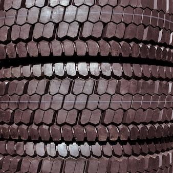 Fundo novo do close-up dos pneus de carro.