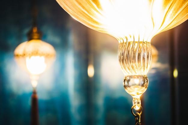 Fundo oriental lanternas arte média