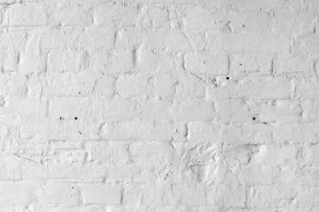 Fundo ou textura branca da parede de tijolo.