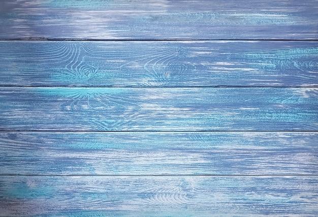 Fundo ou textura de pranchas de madeira pintadas de azul