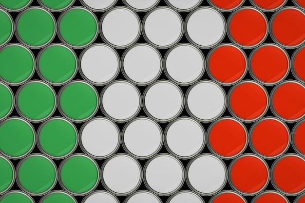 Fundo padrão da bandeira italiana em balde de cor
