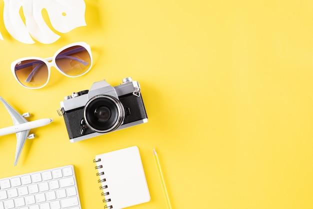 Fundo para férias de verão viagens e conceito de férias.