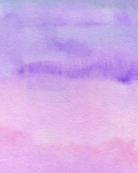 Fundo pastel abstrato aquarela, textura pintada à mão, manchas roxas e rosa aquarela