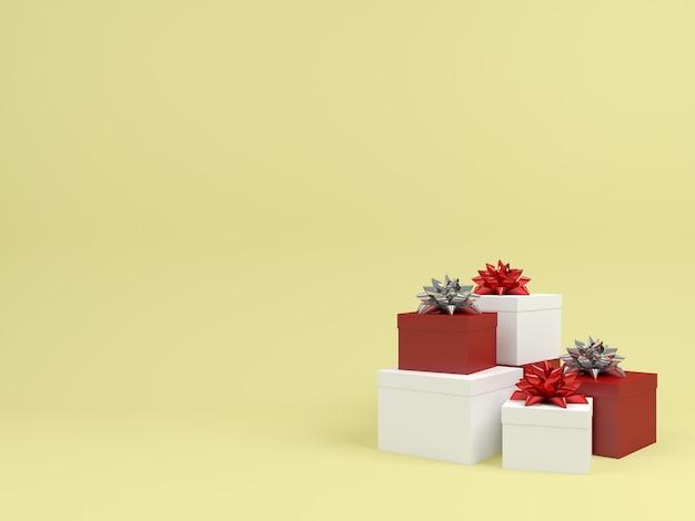 Fundo pastel da caixa de presente de natal