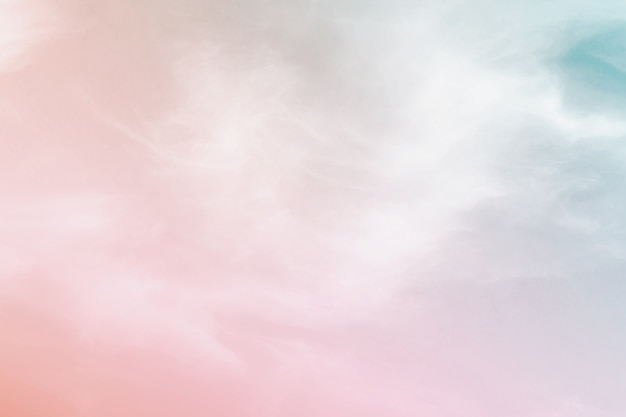 Fundo pastel de cor abstrata, um céu macio com fundo de nuvem em cor pastel