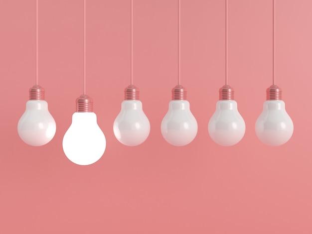 Fundo pastel de lâmpada.