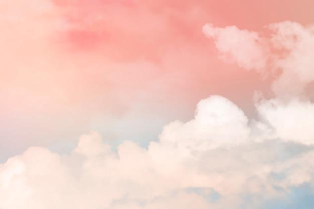 Fundo pastel do céu em estilo feminino