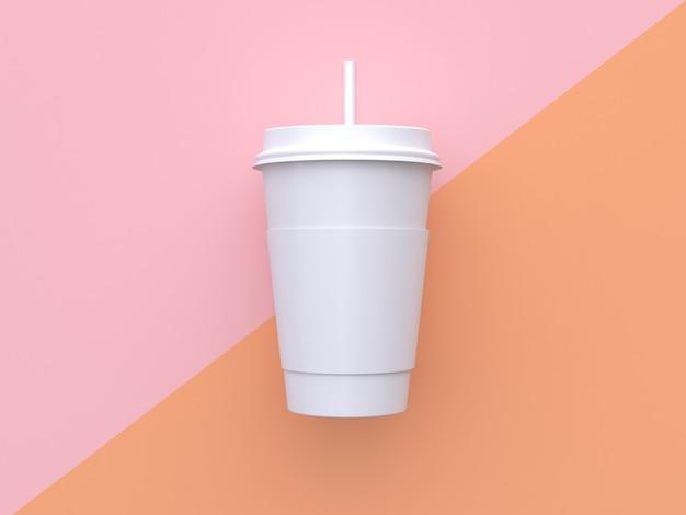 Fundo pastel laranja rosa abstrato mínimo