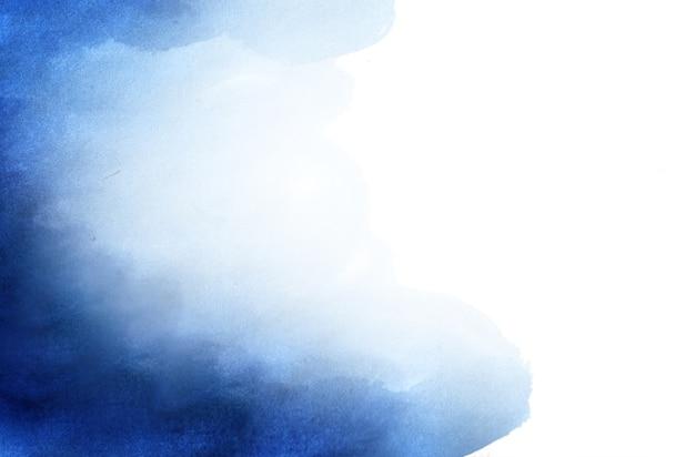Fundo pintado à mão em aquarela abstrato azul.