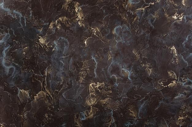 Fundo pintado acrílico da textura das ondas da textura preta.