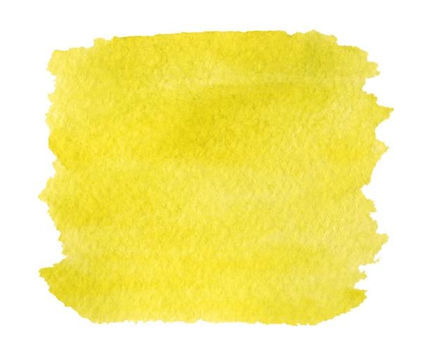 Fundo pintado de amarelo brilhante abstrato isolado no branco