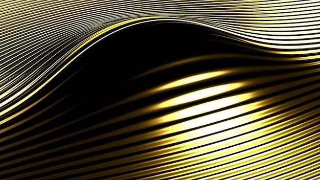 Fundo prateado dourado metálico com impressão tridimensional. ilustração 3d, renderização em 3d.