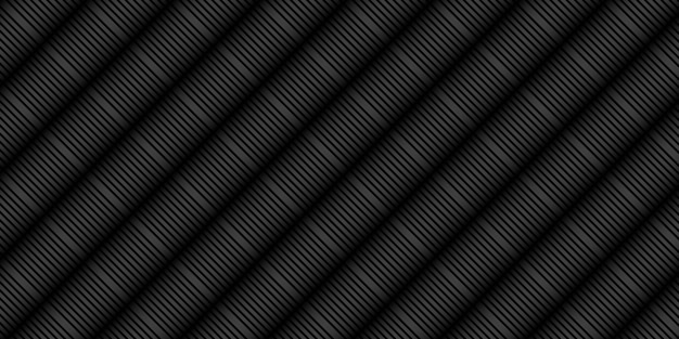 Fundo preto abstrato com padrão de listras de linha
