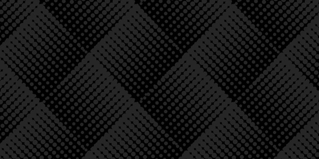 Fundo preto abstrato com padrão de meio-tom quadrado