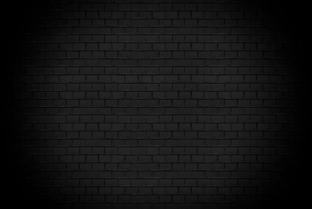 Fundo preto abstrato do teste padrão da parede de tijolo e pano de fundo preto, espaço de cópia em branco.