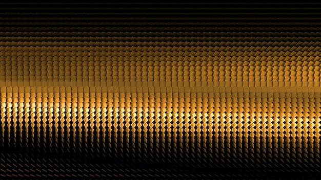 Fundo preto bonito com glitter dourado. ilustração 3d