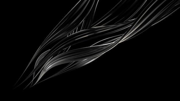 Fundo preto com esguicho de líquido. renderização em 3d.