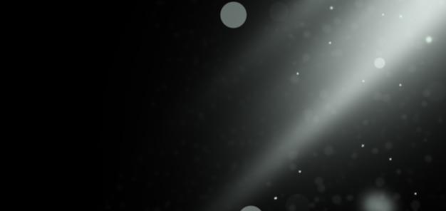 Fundo preto com partículas borradas. usar com tela de modo de sobreposição