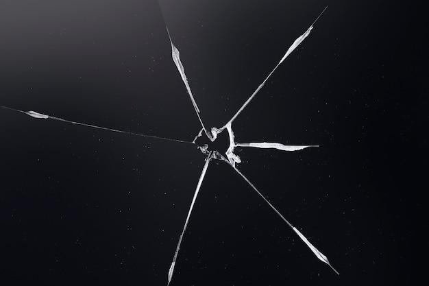 Fundo preto com textura de vidro quebrado